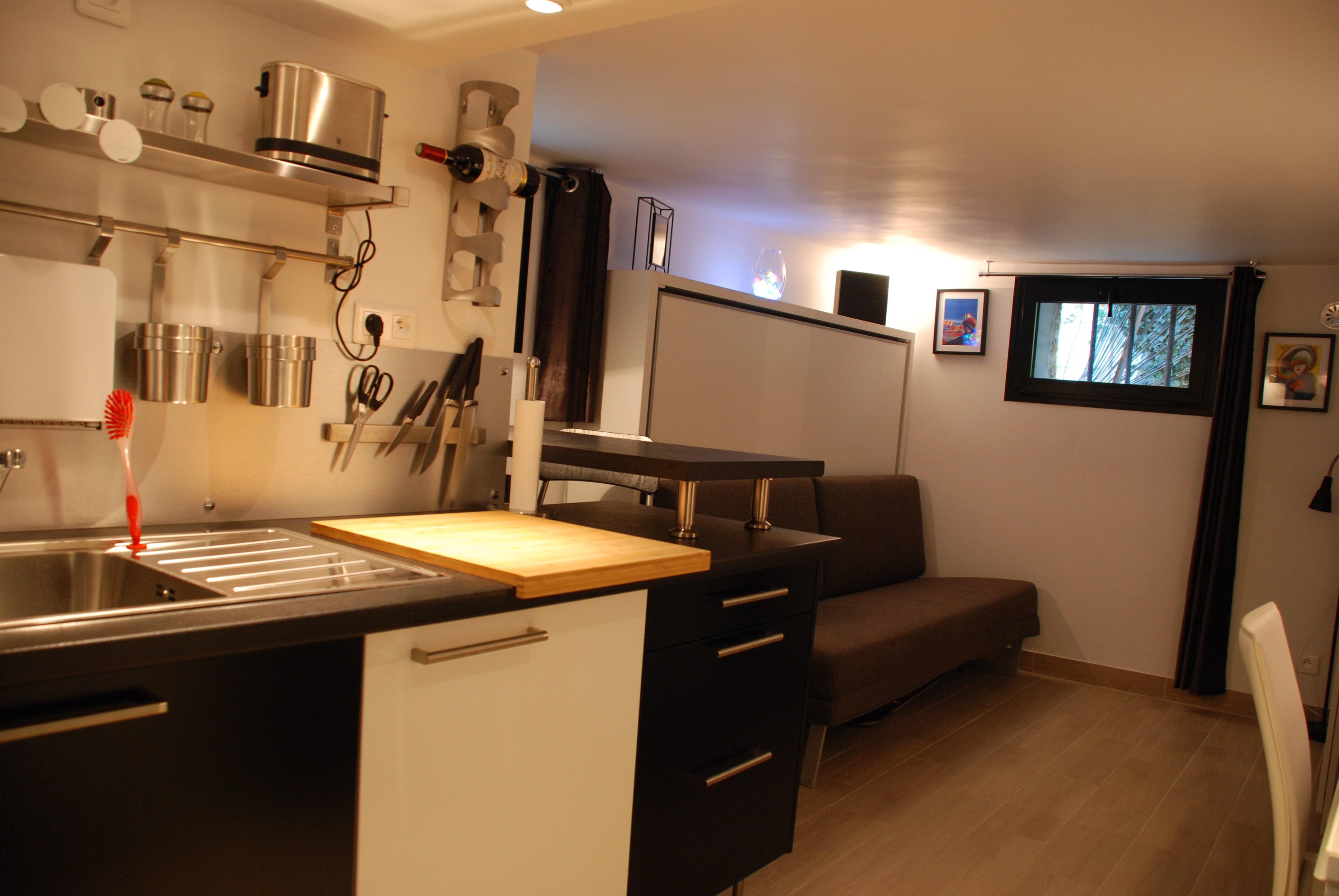 appartement studio meublé versailles genet entrée