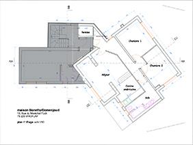 furnished apartement versailles Fushia Blueprint